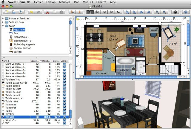 Download sweet home 3d for mac os x v5 4 open source - Logiciel amenagement interieur 3d gratuit ...