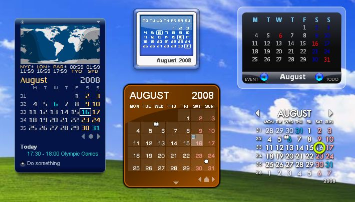 Calendar Wallpaper Program : Download rainlendar lite v freeware afterdawn