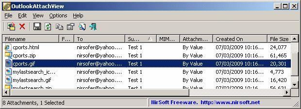 Download NirSoft OutlookAttachView (32-bit) v3.01 ...
