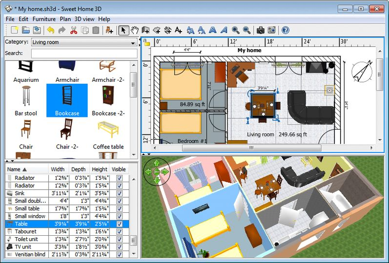 Download sweet home 3d v5 4 open source afterdawn Software to make 3d house plan