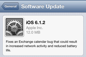 Apple releases iOS 6.1.2 to fix bugs