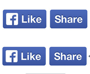 Facebook redesigns 'Like' and 'Share' buttons