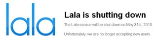 Lala music service officially shut down