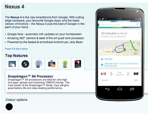 LG Nexus 4 made official by leak