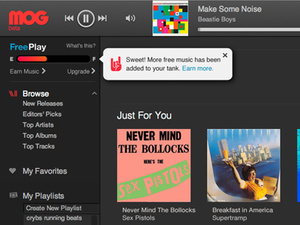 MOG launches free music streaming service
